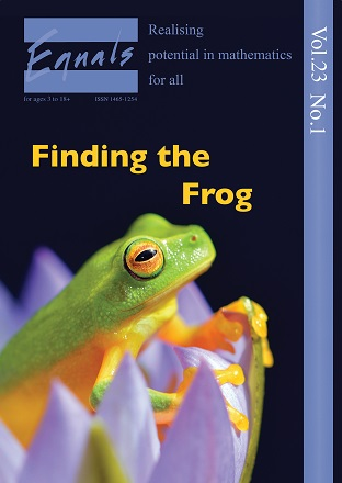 Latest edition of Equals is published and we'd like you to find the frog and much more inside!